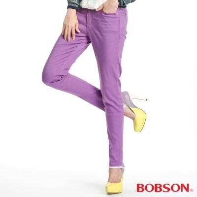 BOBSON 女款天絲棉強彈緊身褲(紫61)