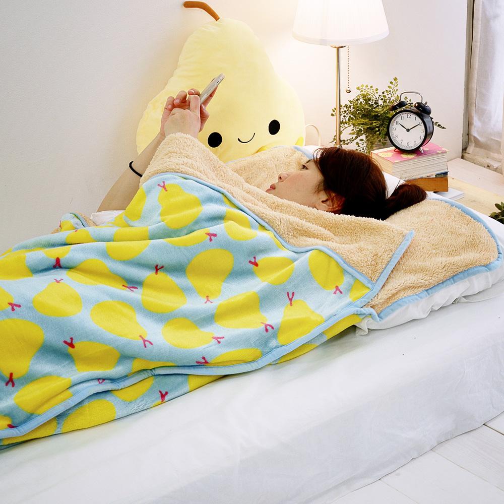 絲薇諾  小香梨  法蘭絨羊羔絨睡袋毯
