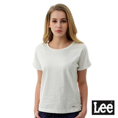 Lee 幾何燙金印花短袖圓領TEE/BO-女款-白