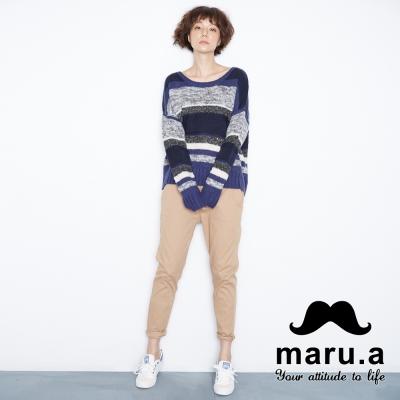maru-a麻洛野-造型後身口袋棉質長褲