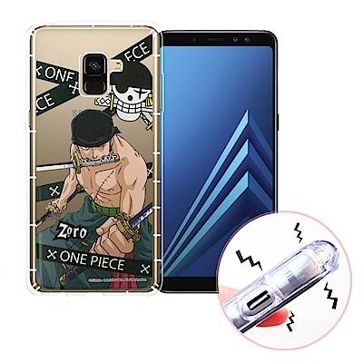 航海王 Samsung Galaxy A8(2018) 透明軟式空壓殼(封鎖索隆...