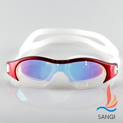 SANQI三奇 夏日必備抗UV防霧休閒泳鏡(13000-紅F)