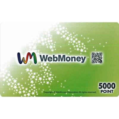 (虛擬點數) WEB MONEY 5000點 日帳專用