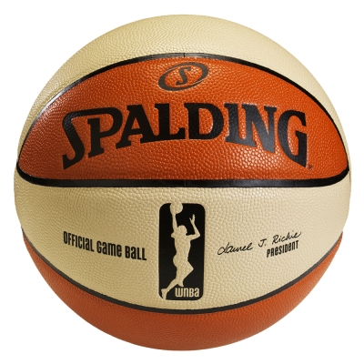 SPALDING WNBA  6 片式比賽用球 籃球  6 號