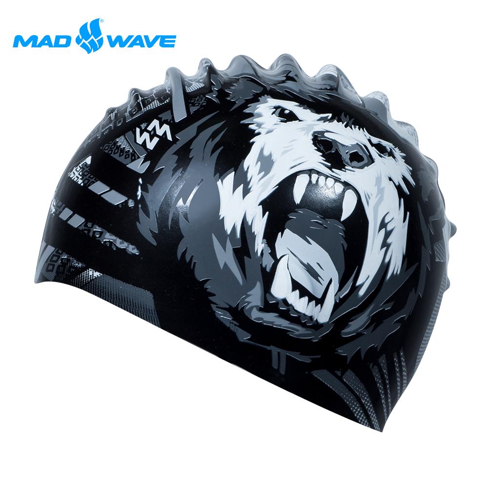 俄羅斯 邁俄威 成人矽膠泳帽 MADWAVE BEAR