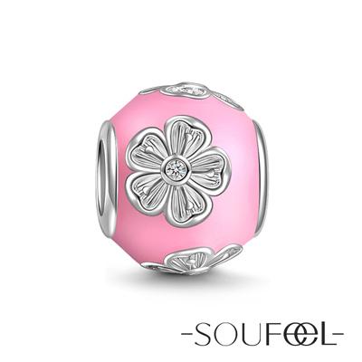 SOUFEEL索菲爾 925純銀珠飾 春日桃花 串珠