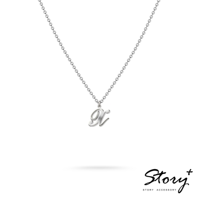 STORY ACCESSORY-字母系列-字母X 純銀項鍊