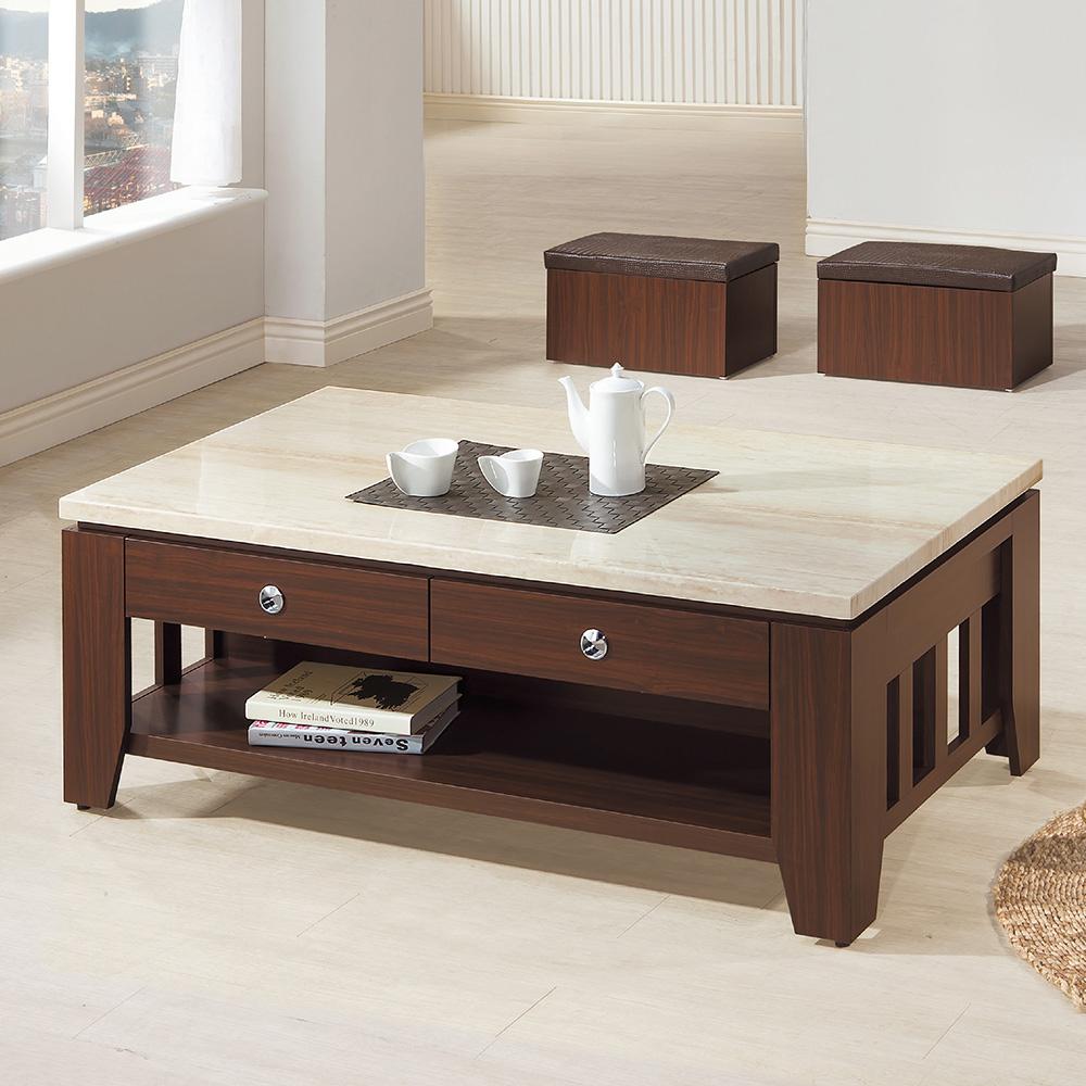 Bernice-波斯4.3尺仿石面大茶几(附椅凳)(兩色)-130x70x49cm