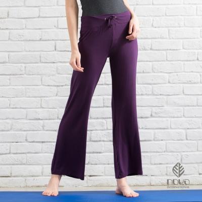 NOYA-女親膚柔軟透氣韻律瑜珈運動長褲-葡萄紫