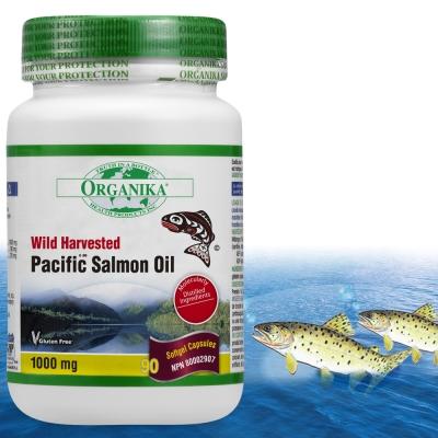 Organika優格康-太平洋鮭魚油1000mg(90顆 15-30天份)