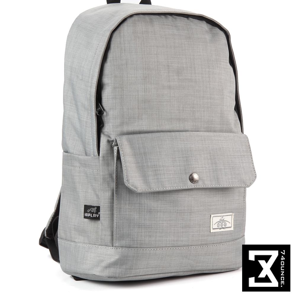 74盎司 簡約設計後背包(14吋)[K-011]灰