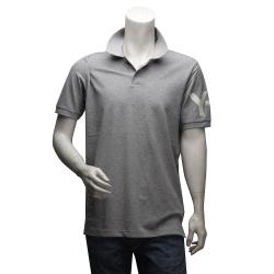 Y-3 山本耀司經典LOGO純棉立領短袖POLO衫(淺灰)