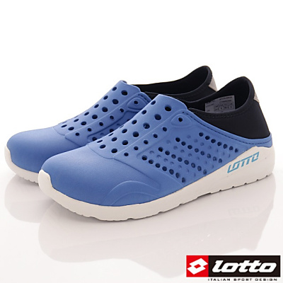 Lotto樂得-二代潮流洞洞鞋-SFI366藍(男段)