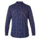【Berghaus 貝豪斯】男款銀離子UPF50+保暖襯衫C05M01藍 product thumbnail 1
