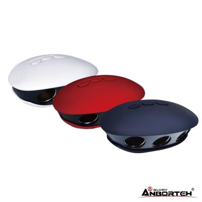 安伯特 3.1A雙USB 貝殼曲面車充擴充座 120W 適用平板