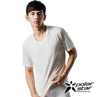 PolarStar 男 COOLMAX 排汗內衣 短袖T恤『米白』P9103