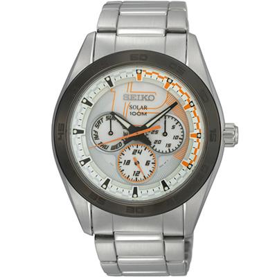 SEIKO Solar 急速戰士時尚腕錶 V14J-0BS0S