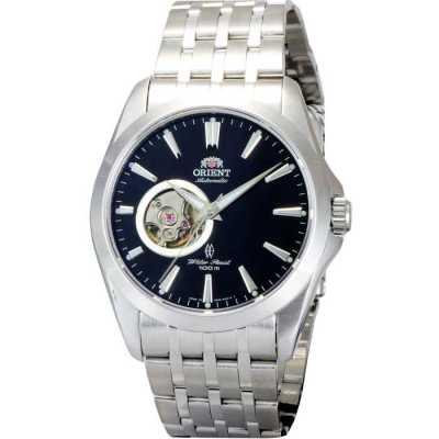 ORIENT 獨具尊寵雙鏤空機械腕錶-黑/40mm