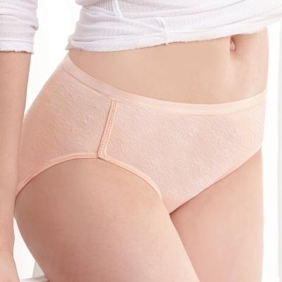 曼黛瑪璉 中腰三角生理內褲M-XL(粉膚)
