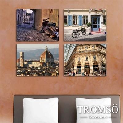 TROMSO時尚無框畫-風采義大利 (4件1幅)