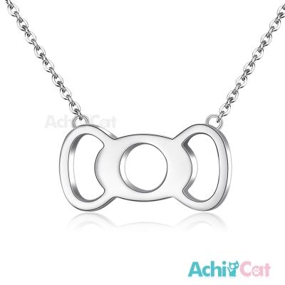 AchiCat 珠寶白鋼項鍊 簡愛 蝴蝶結(銀色)