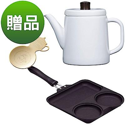 野田琺瑯-北歐風手沖壺-白色-日本三格青蛙平底鍋