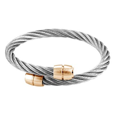 CHARRIOL 夏利豪經典徹爾斯鋼索玫瑰金手環