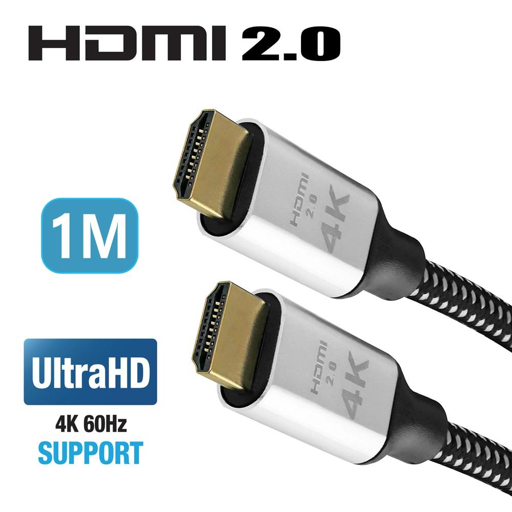 True 4K 60fps HDMI 2.0 超高畫質傳輸線 1米 地線抗靜電 1M @ Y!購物