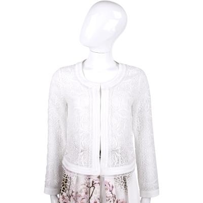 BLUGIRL 白色蕾絲織花設計外套