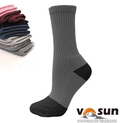 【台灣 VOSUN】 MIT 頂級控溫保暖中筒美麗諾羊毛襪_深灰