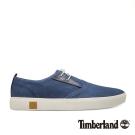 Timberland 男款海軍藍拼接淺口帆布鞋
