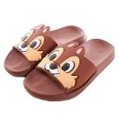 迪士尼松鼠奇奇休閒拖鞋 咖 sh0036 魔法Baby