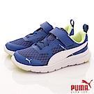 PUMA童鞋 超透氣慢跑款-90683-03藍(中小童段)