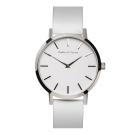 Barbas&Zacari 澳大利亞精品手錶 原始系列 白色錶盤/皮革錶帶 銀色錶框43mm