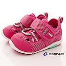 日本月星頂級童鞋 透氣護趾機能鞋 ON404粉(寶寶段)