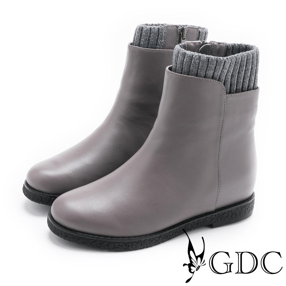 GDC-簡單大方質感襪靴-灰色