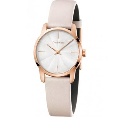 Calvin Klein CK 都會系列女用腕錶-米色/ 31 mm