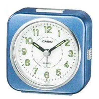 CASIO 桌上型指針鬧鐘(TQ-143S-2)-藍色