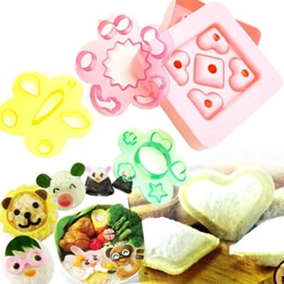 kiret日本DIY百變造型御飯糰+愛心土司壓模三明治套組-贈小熊三明治模具