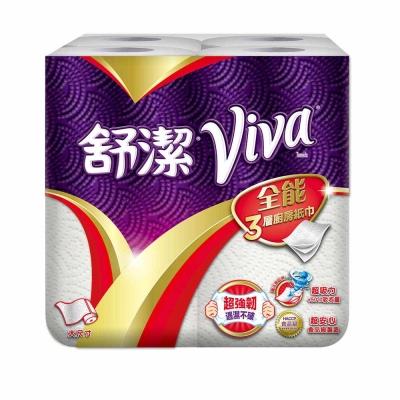 舒潔 VIVA 全能三層廚房紙巾-大尺寸捲筒式 60張x4捲x6串/箱