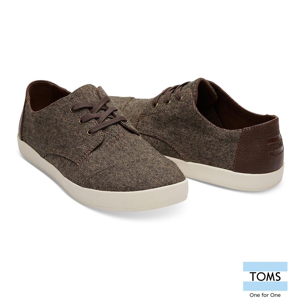 TOMS 拼色混紡織紋綁帶休閒鞋-男款