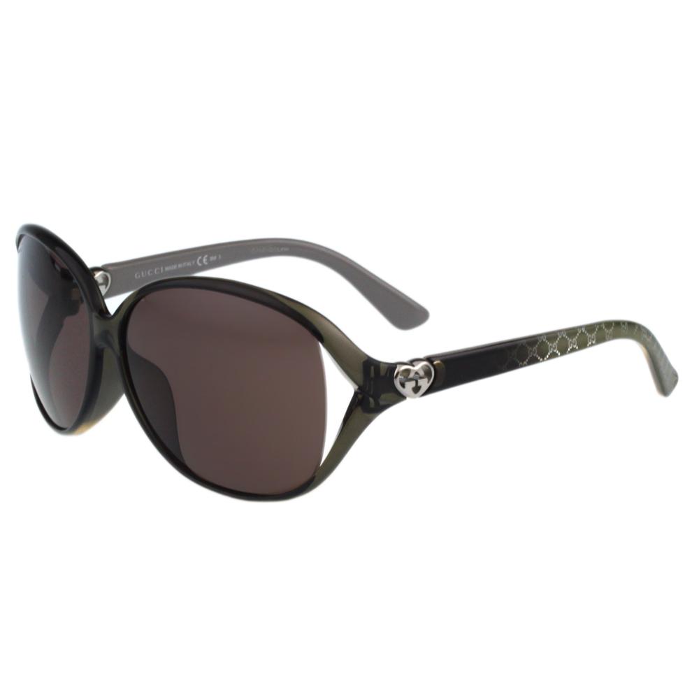 GUCCI-閃耀鑽石系列 太陽眼鏡(透明灰色)