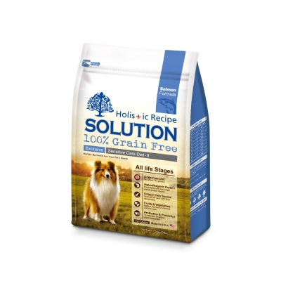 SOLUTION 耐吉斯 成幼犬無穀 大西洋鮭魚 低敏柔膚 3磅 1.36kg X 1包
