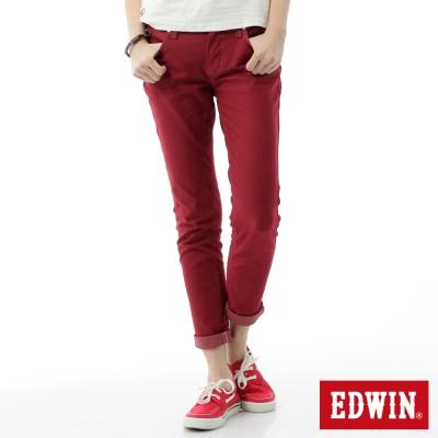 EDWIN-AB褲-503JERSEYS迦績色褲-女-紅色