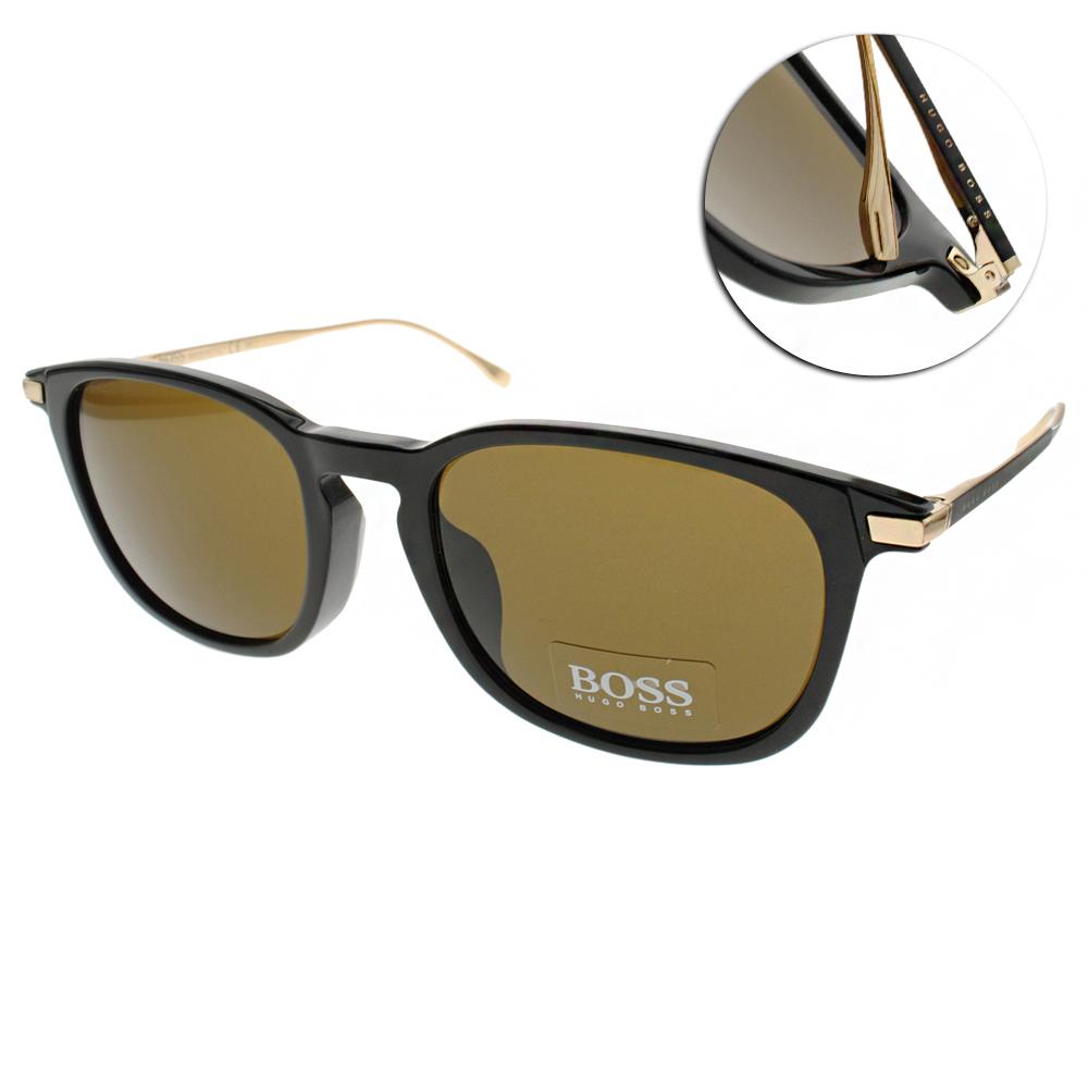 HUGO BOSS太陽眼鏡 經典紳士款/黑#HB0818FS 263EC