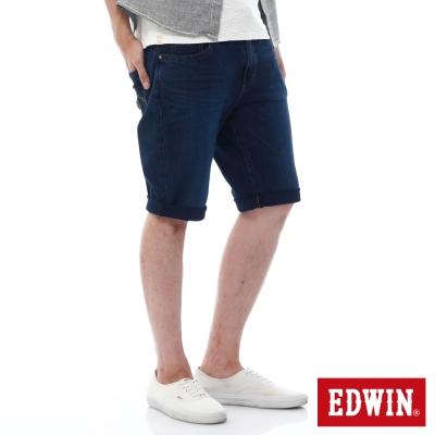 EDWIN 加大碼 迦績褲JERSEYS紅腰頭短褲-男-石洗綠