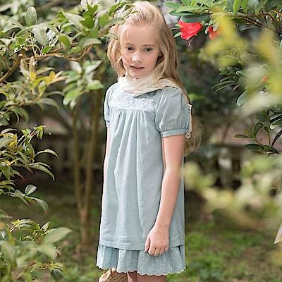 PIPPY 棉麻刺繡洋裝 綠
