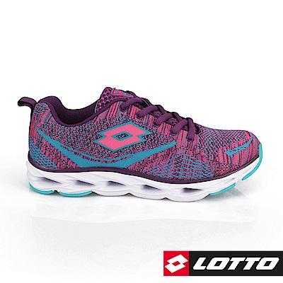 LOTTO 義大利 女 疾風編織跑鞋 (紫)