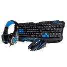 T.C.STAR USB有線電競鍵鼠組/藍色 (KIT9908BU)
