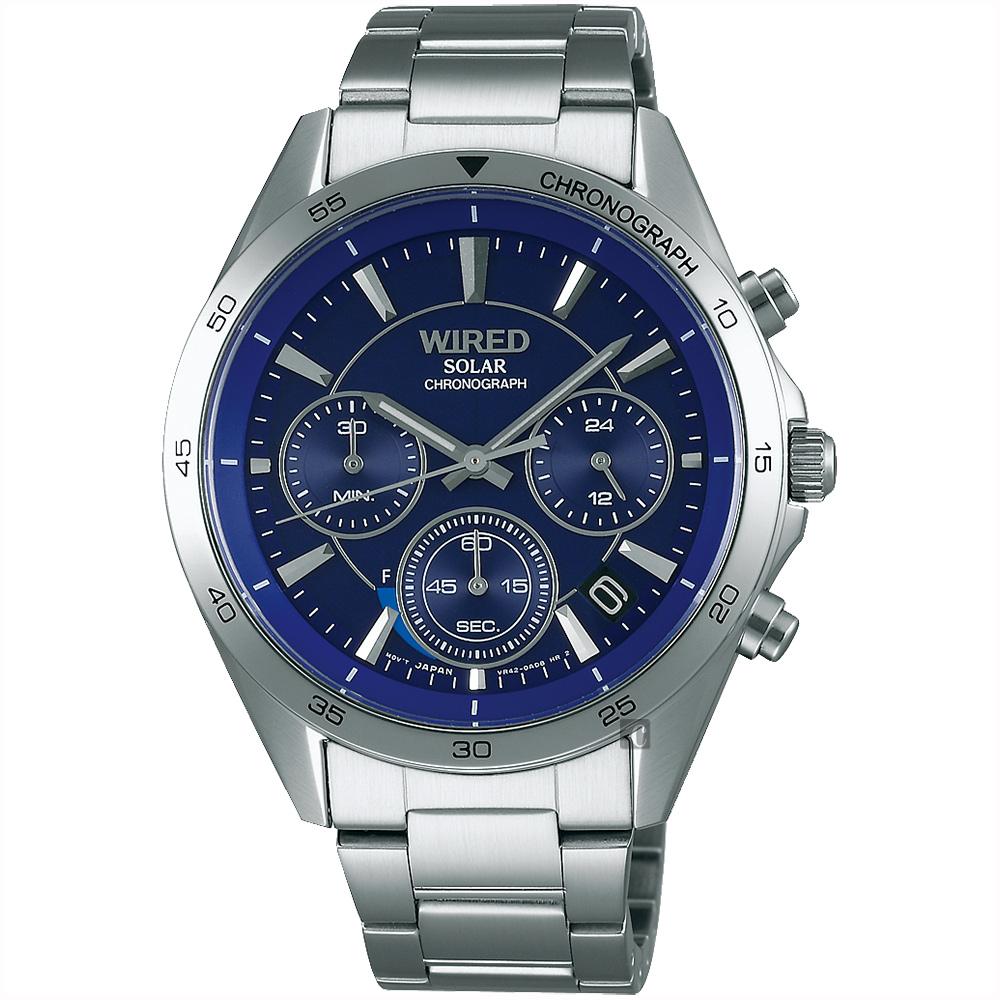 WIRED 東京玩家太陽能計時手錶(AY8027X1)-藍/40mm